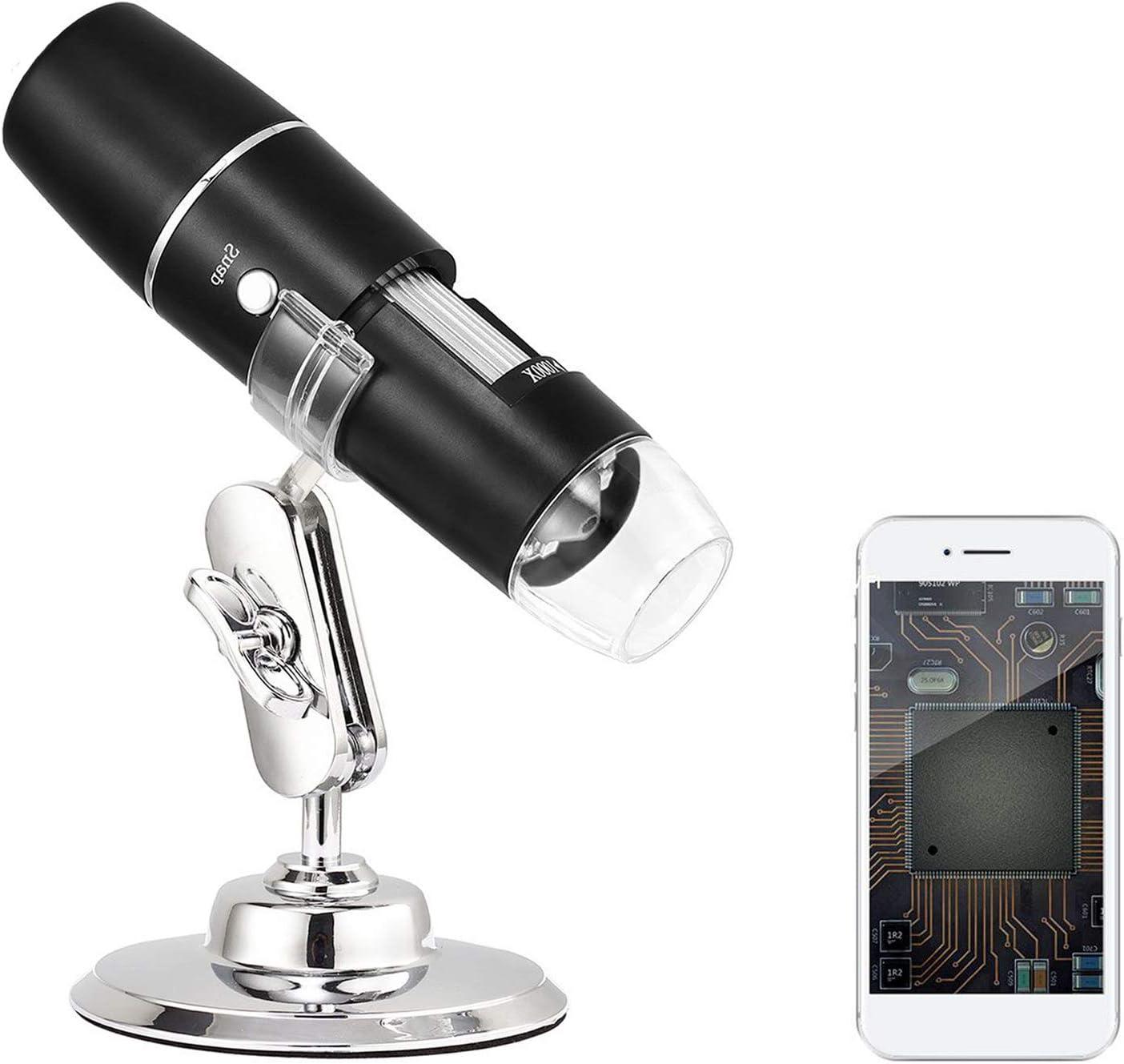 Digital Microscope,WIFI Microscope USB Digital Environmental Friendly Matte Electronic Equipment W031000X