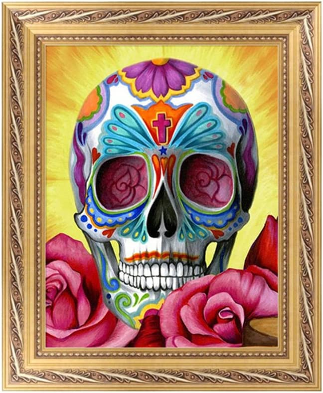 Fang sky Skull 5D Diamond Embroidery Painting Cross Stitch DIY Craft Home Office Decor