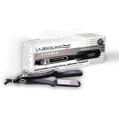 """1 1/4"""" Professional Titanium Hair Straightener- Titanio 450f Keratin Flat Iron"""