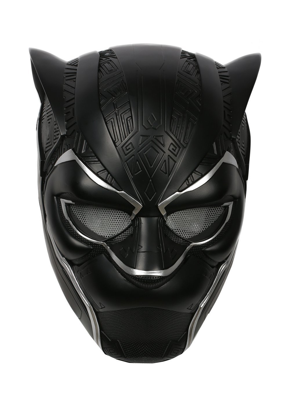 xcoser Black Panther Helmet Deluxe Adult Mask Captain Halloween Party Cosplay Costume S