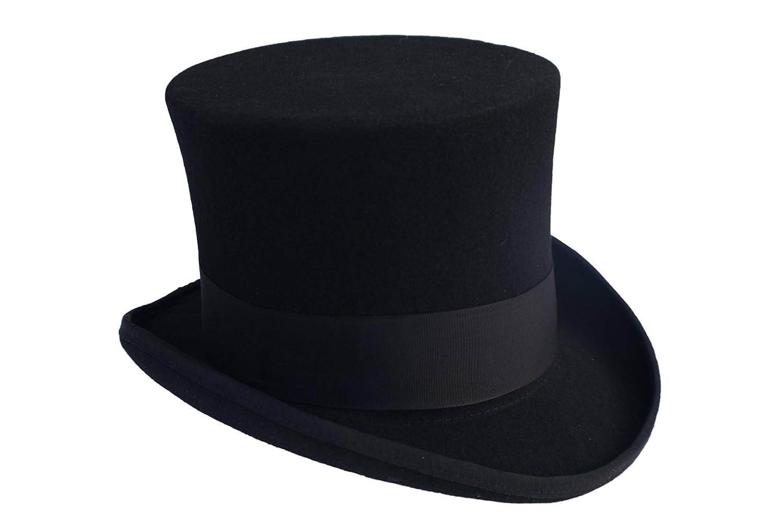 Elegant Men s Black Top Hat - 100% Wool at Amazon Men s Clothing store  9b888625525