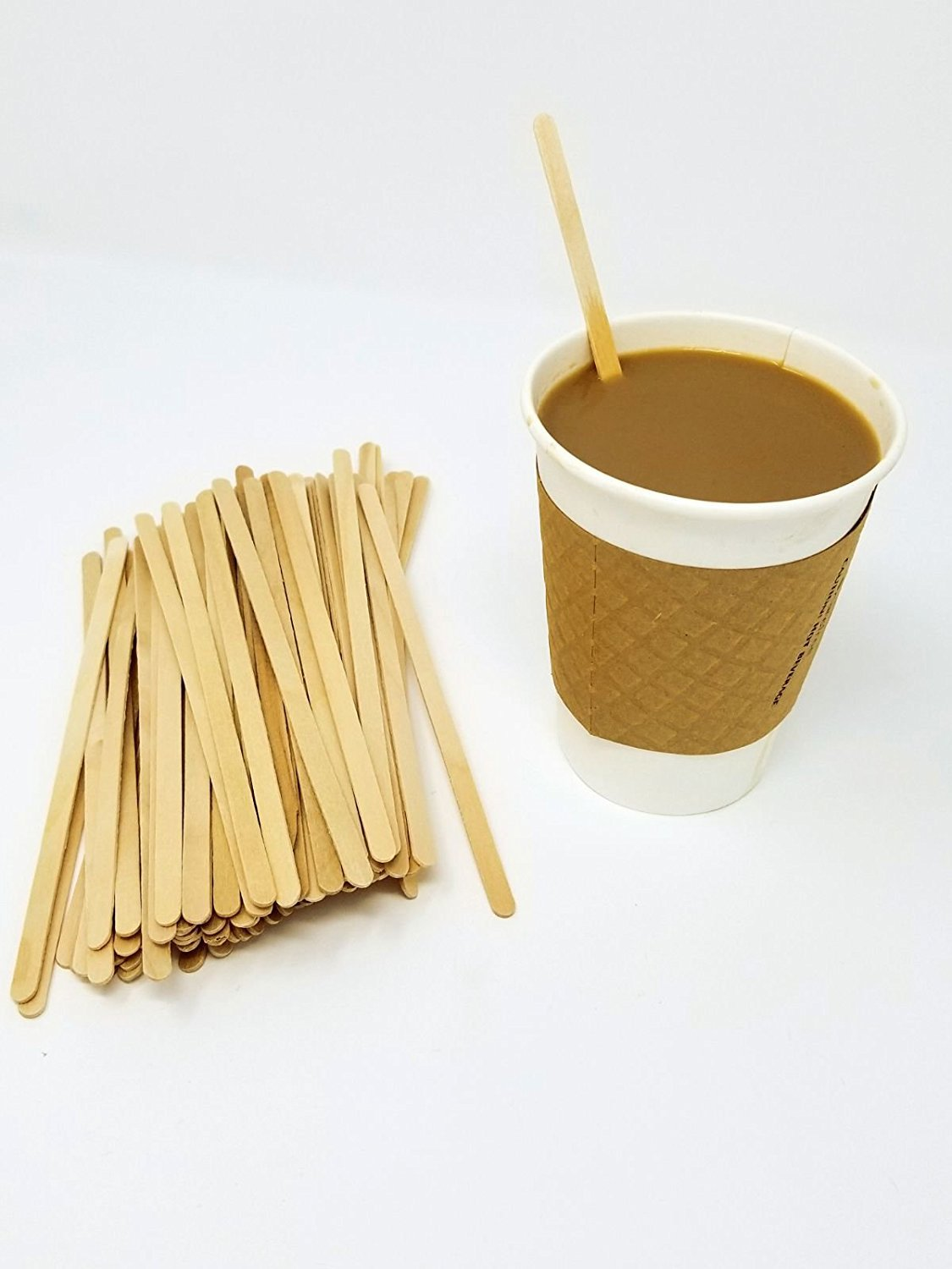 Wood Coffee Stirrers, Stir Sticks for Tea & Hot or Cold Beverages, Biodegradable, 7-Inch (1000 Count) by eDayDeal HomeGoods (10 Pack - 10,000)