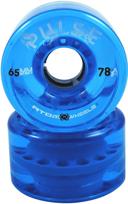 Atom Skates Pulse Blue Outdoor Quad Roller Skate Wheels Set of 4 by Atom Skates