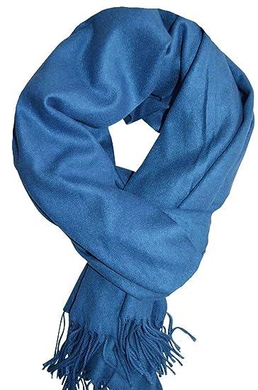 697066d4d9c6 KARL LOVEN Femme - écharpe - Cachemire - pashmina - foulard - cache-col  (Bleu)  Amazon.fr  Vêtements et accessoires