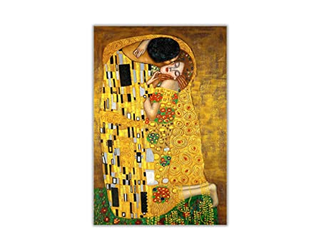 "Gustav Klimt The Kiss Box Canvas Print Wall Art A1 20/"" X 30/"" inches New UK"
