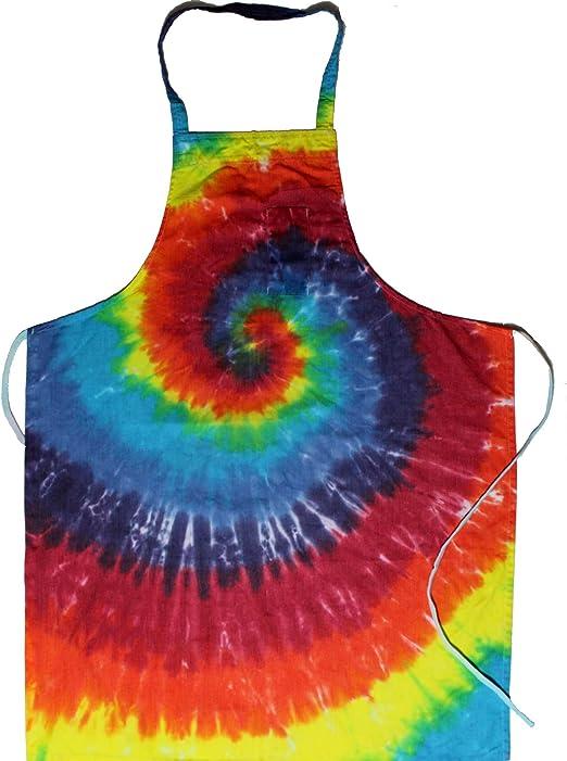 Extreme Rainbow Brightside Tie-Dye 2-Pocket 30 Inch Bib Apron