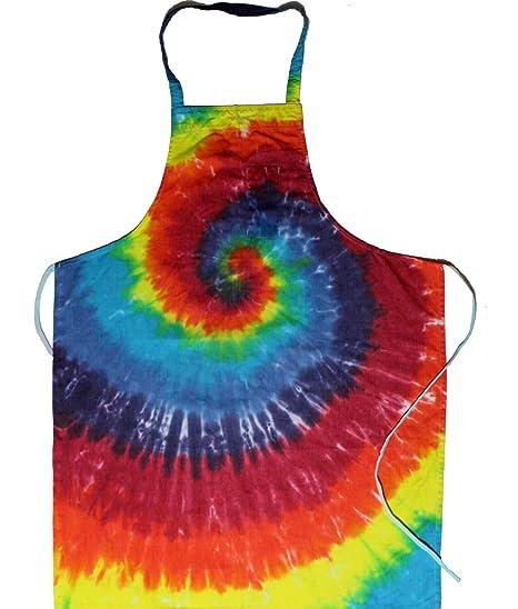 Amazon.com: Arco Iris Spiral Tie Dye Cocina Delantal: Home ...