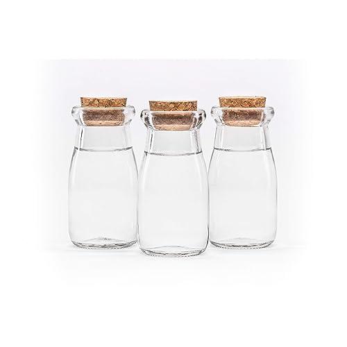12 piezas de 100 Botellas de deseo de vidrio transparente recipientes de vidrio frasco de vidrio
