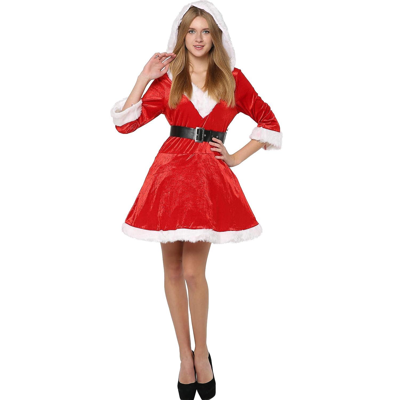 EraSpooky Mamá Noel Deluxe Mujer Disfraz De Navidad Fiesta ...