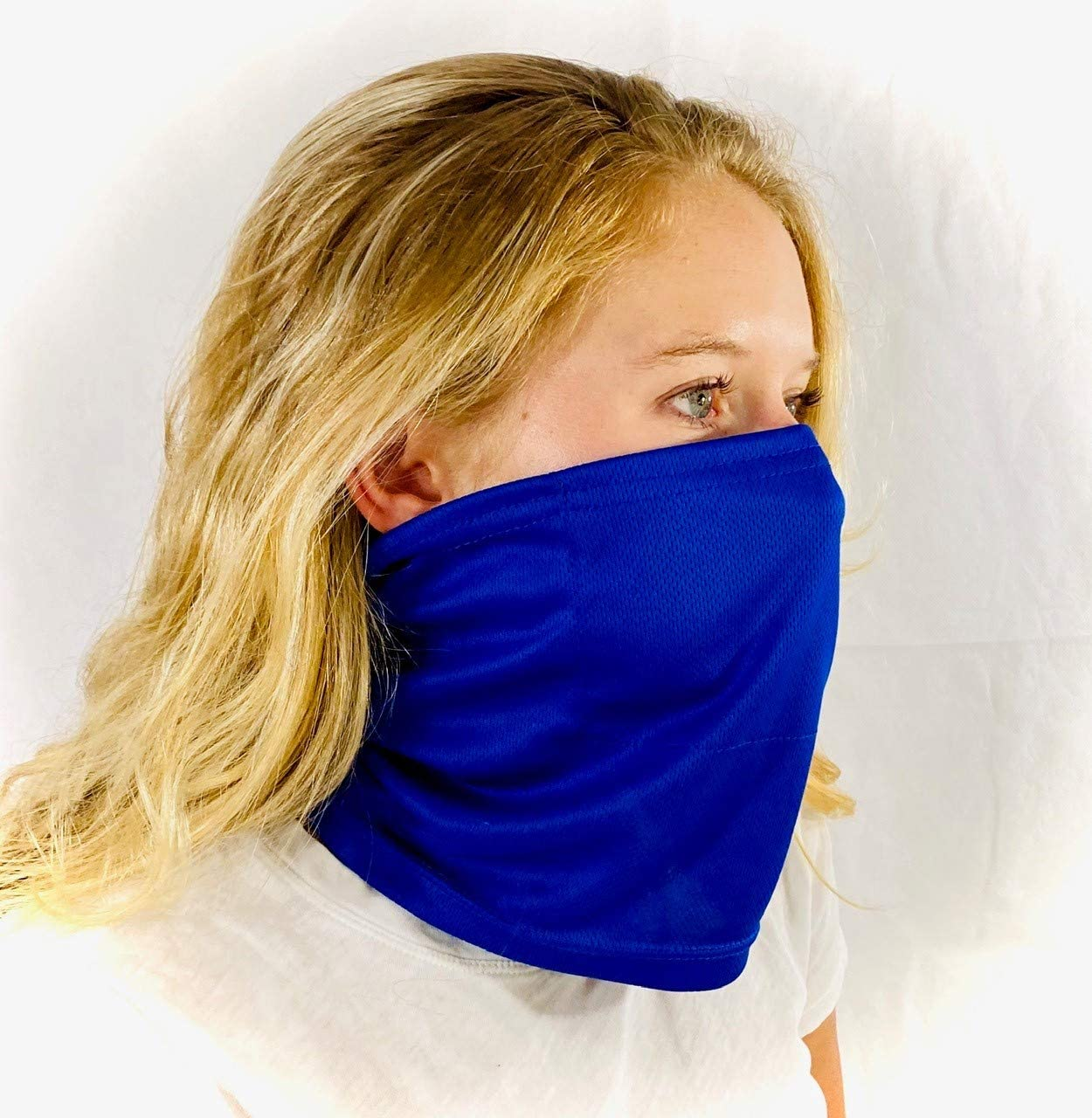 Washable Face Masks with Interior Filter Pocket Gaiter Guard Pro Neck Gaiter Face Mask for Women and Men Breathable Face Covering Bandana Face Mask Blue Unisex Lightweight