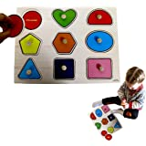 Dazzling Toys Kids Favorite Wooden Large Shapes Puzzle