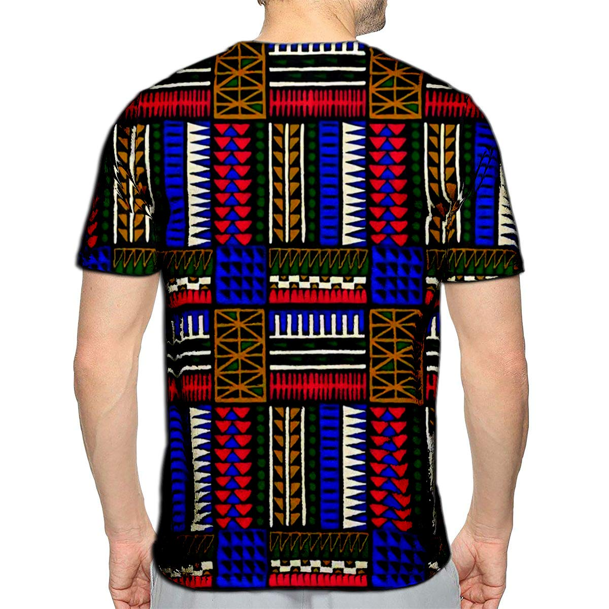 3D Printed T-Shirts Tribal Ornament African Ethnic Carpet with Chevrons Aztec Pa