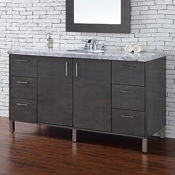 Amazon.com: James Martin Metropolitan 60 in. Single Bathroom Vanity on james martin bathroom vanity with travertine, james martin bosco antique white, james martin bathroom cabinet outlet, james martin bathroom medicine cabinets,