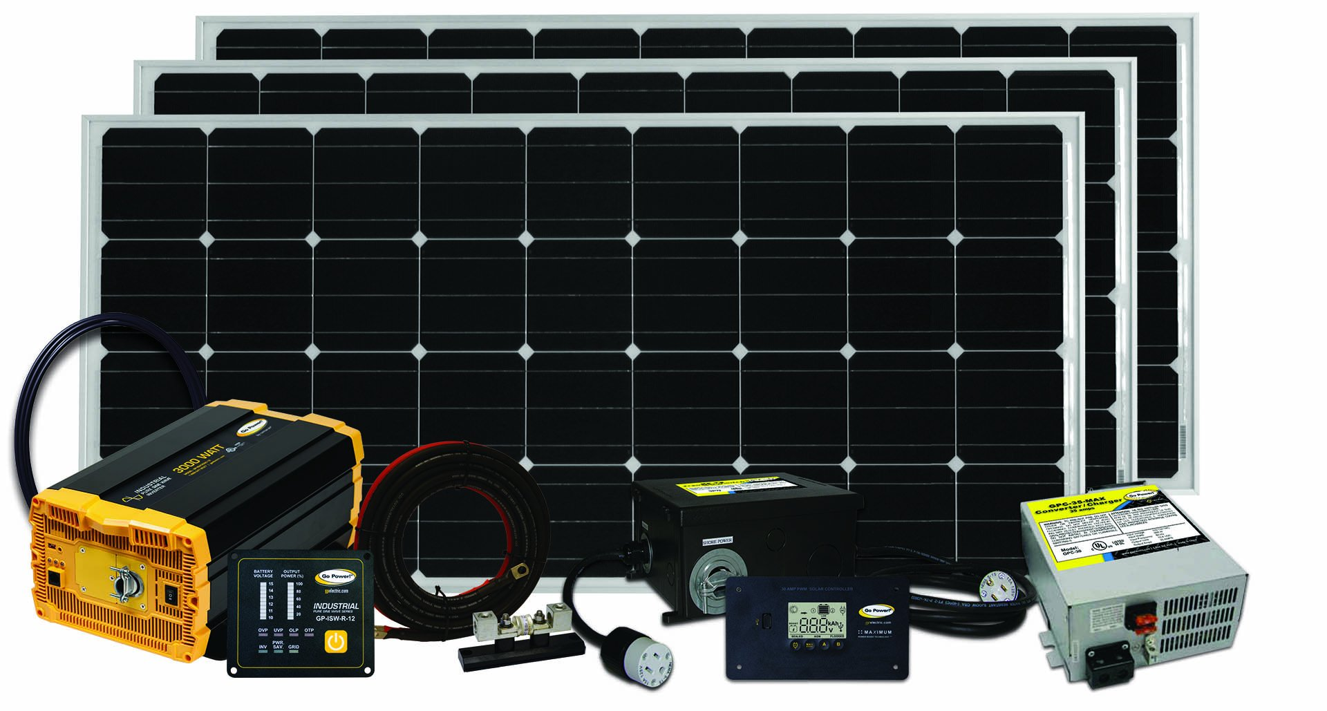 Go Power! Solar Extreme Complete Solar and Inverter System with 480 Watts of Solar by Go Power!