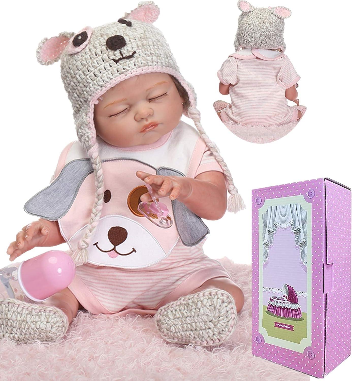 "22/"" Anatomically Correct Lifelike Reborn Baby Dolls Girl Doll Newborn Kids Gifts"