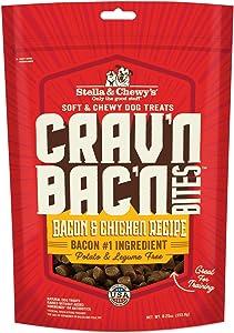 Stella & Chewy's Crav'n Bac'n Bites Bacon & Chicken Recipe Dog Treats, 8.25 oz Bag