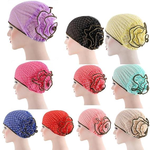 Women New Muslim Stretch Turban Hat Chemo Cap Hair Loss Head Scarf Wrap Hijib Cap (