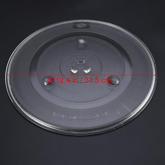 OUNONA - Plato Giratorio de Cristal para microondas (31,5 cm ...
