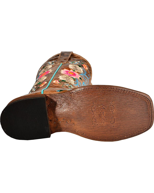 Macie Bean Womens Rose Garden Cowgirl Boot Square Toe