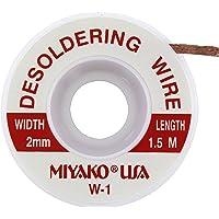 MIYAKO Desoldering Wick Wire Roll in Handy Dispenser 5 Ft