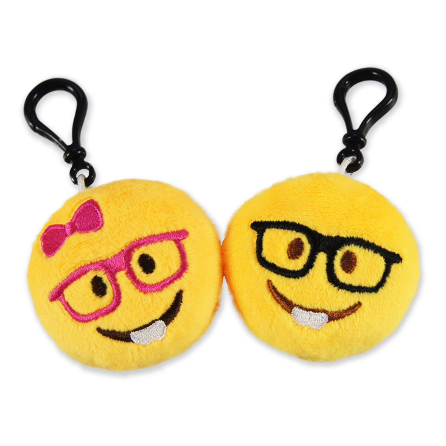 Ivenf Pack of 50 5cm/2'' Emoji Poop Plush Keychain Birthday Party Favors Supplies Mini Pillows Set, Emoticon Backpack Clips, Goodie Bag Stuffers Pinata Fillers Novelty Gifts Toys Prizes for Kids by Ivenf (Image #3)
