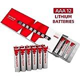 Bevigor AAA Lithium Batteries, 12Pack Ultimate Lithium Triple A Batteries, 1.5V 1100mAh Longer Lasting AAA Batteries for…