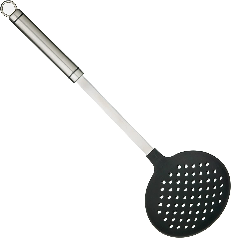Kitchen Craft Professional - Espumadera Antiadherente (Acero Inoxidable, Mango Largo Ovalado)