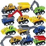 GIFTEXPRESS® 1dz Mini Pull back Construction toy cars - Educational Preschool Bulldoze Excavator Dump Truck Model Kit for Chi