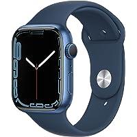 Apple Watch Series 7 (GPS) • 45‐mm kast van blauw aluminium • Abyss-blauw sportbandje - Standaardmaat
