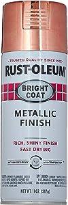 Rust-Oleum 331255 11 OZ Aerosol Rose Metallic Enamel, Red