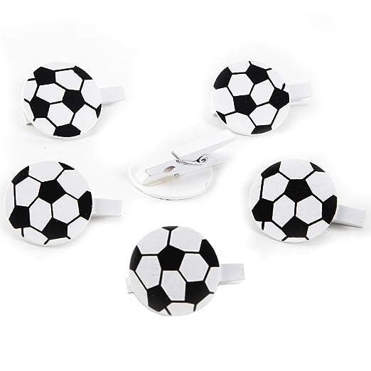 Logbuch-Verlag - Pinzas de fútbol para decoración de ...