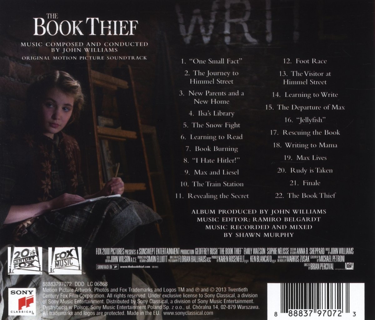 john williams the book thief original motion picture soundtrack john williams the book thief original motion picture soundtrack com music
