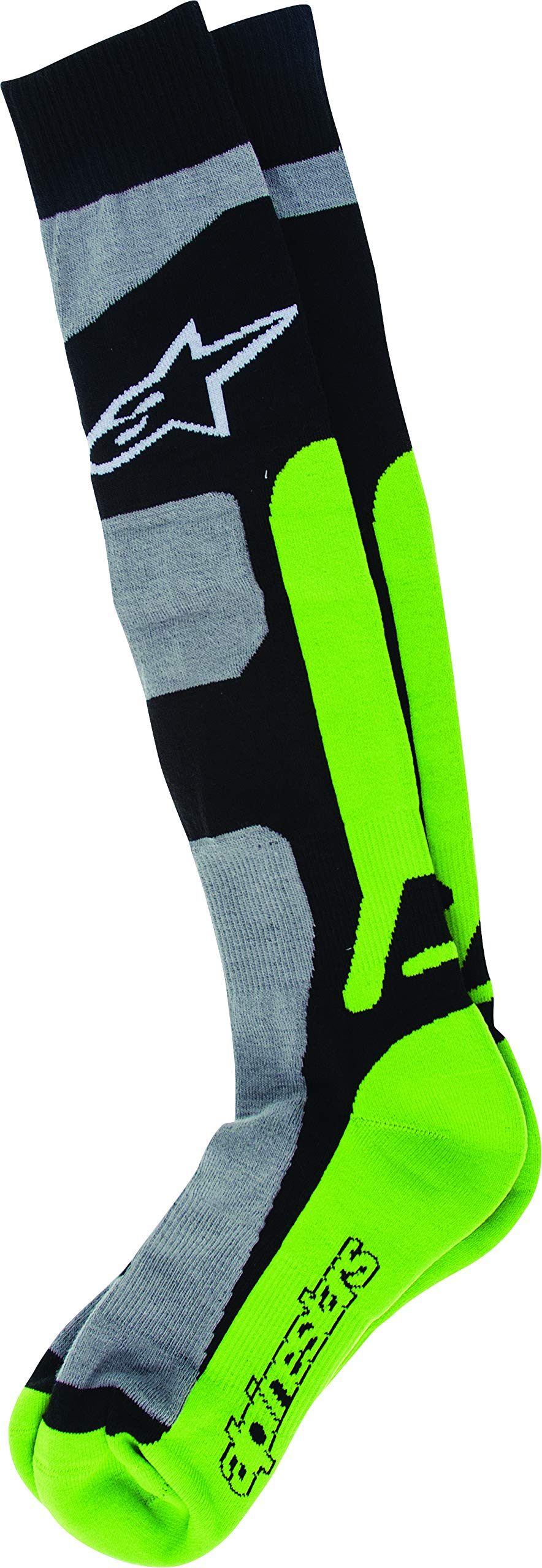 Alpinestars Men's 4702114-916-LXL Sock (Coolmax) (Green, X-Large), Large/X-Large