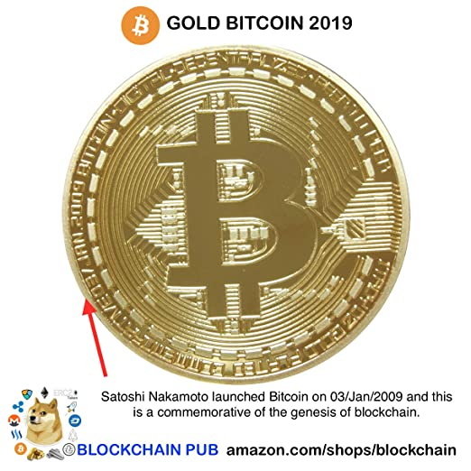 Gold Bitcoin 2019 Commemorative Celebrate The Bitcoin Lightning Network!