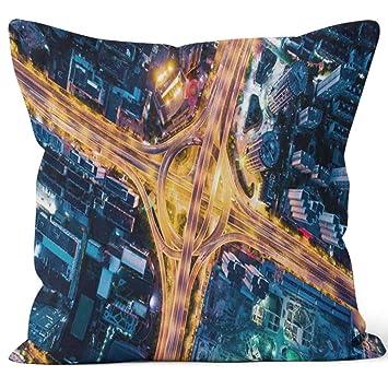 Amazon.com: Nine City - Funda de almohada con diseño ...