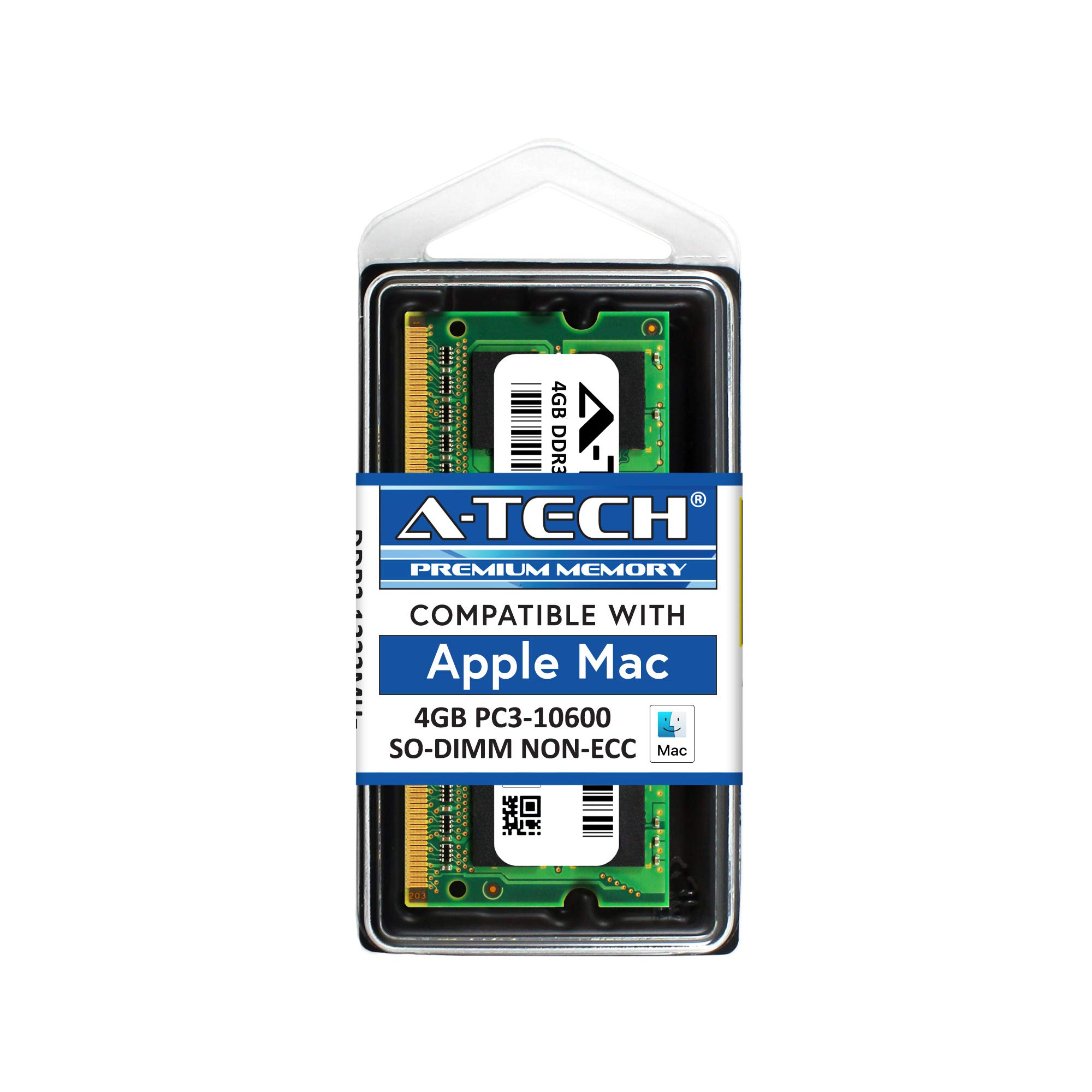 Memoria Ram 4gb A-tech Para Apple Modulo Pc3-10600 Mac Mini iMac Macbook Pro Mid 2010 Late 2011 A1286 Md311ll/a A1297 Mc