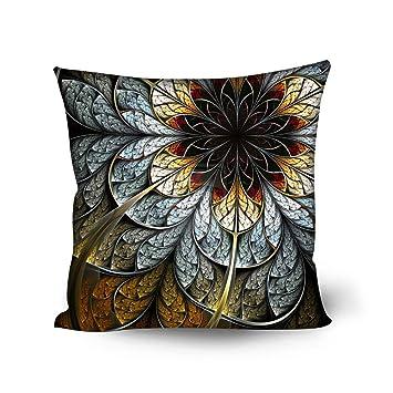 Amazon.com: coloranimal Juego de 4 diseño de flores y fundas ...