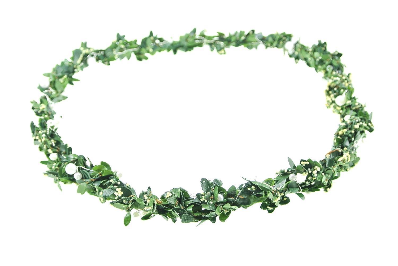 clarigo Haarschmuck Hochzeit Kommunion Haarkranz Haarkkränzchen Buchskranz Buchskränzchen Perlenkranz Perlen weiß