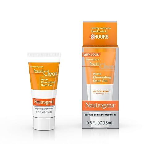 Amazon Com Neutrogena Rapid Clear Acne Eliminating Spot Treatment Gel With Witch Hazel And Salicylic Acid Acne Medicine For Acne Prone Skin 0 5 Fl Oz Beauty