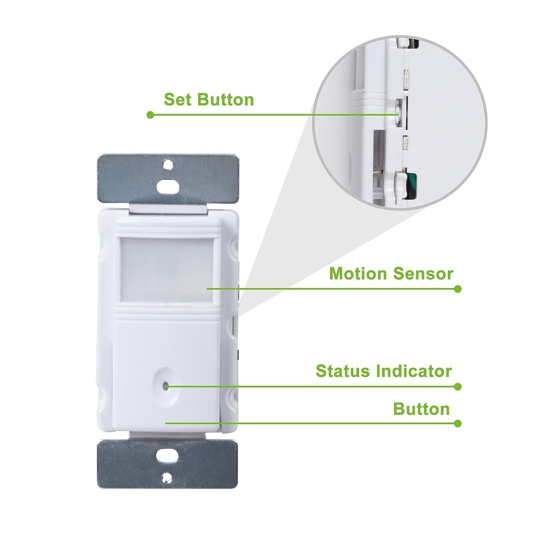 Century In Wall Motion Sensor Light Switch Single Pole