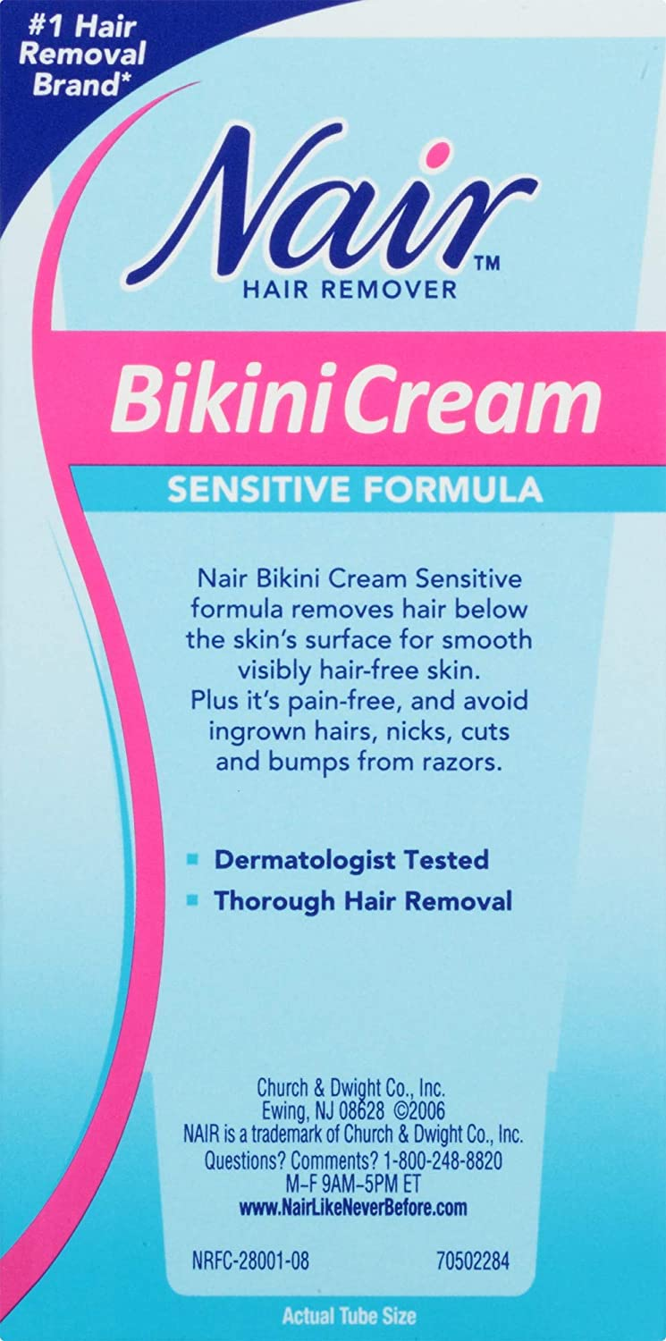 Amazon Com Nair Hair Remover Bikini Cream Sensitive Formula