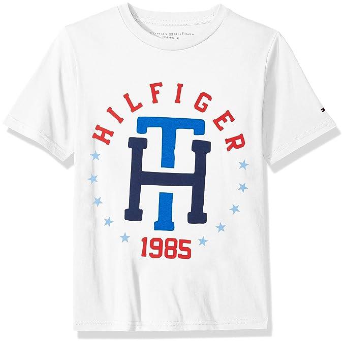 0026d54f0b8 Tommy Hilfiger Boys Th Star Logo Tee Shirt T-Shirt  Amazon.ca ...