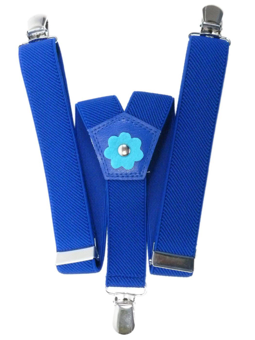 Tirantes 'Y-Forma' para los Niñas 1-5 años, Flor Diseño Flor Diseño - Azul Real KIDSBRACESHrblue