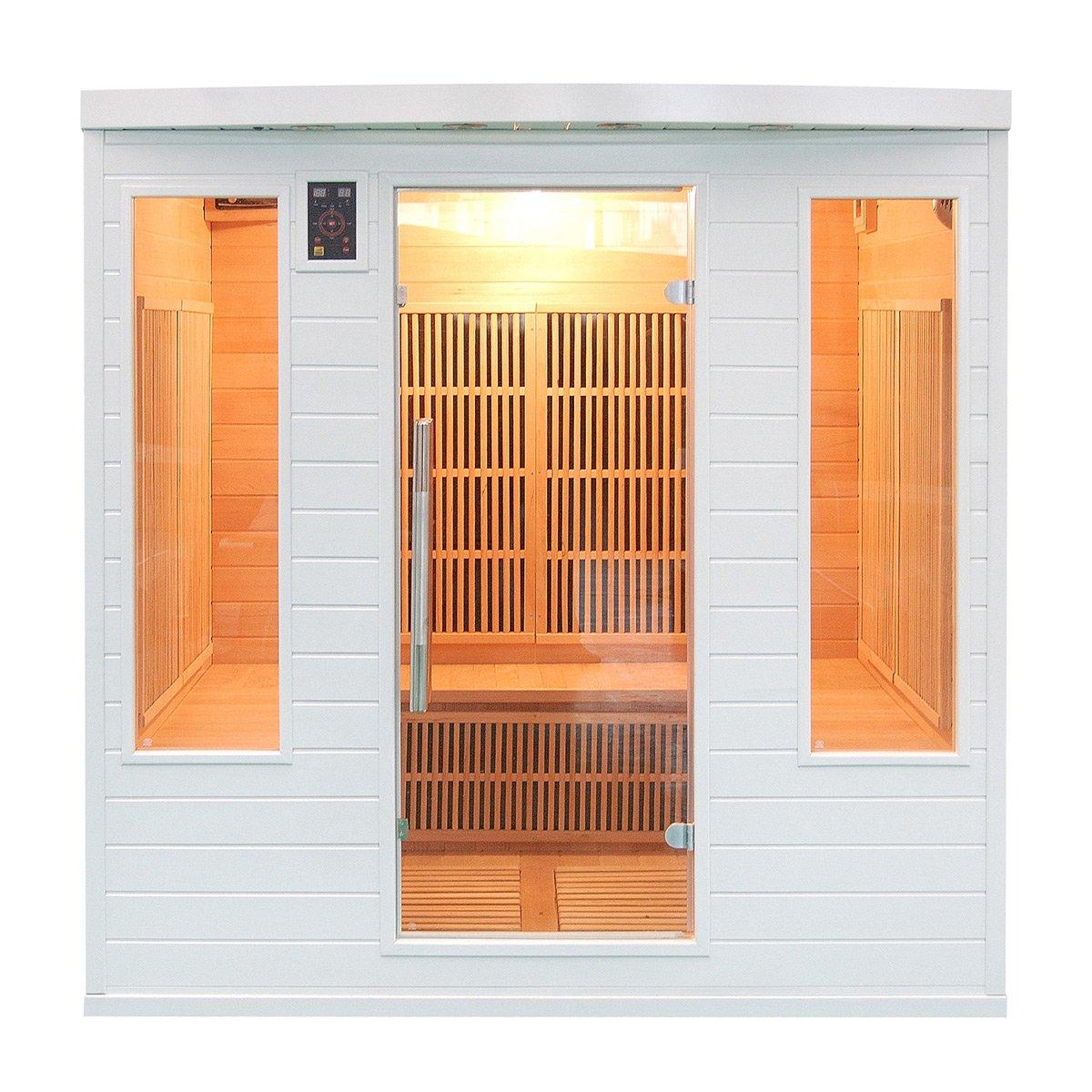 Sauna cabine infrarouge club soleil blanc 4-5 places Sn-SOLEILBL4S France Sauna