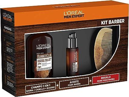 LOréal Men Expert - Cofre Regalo para Hombre Barber Club, Incluye Champú para Barba 3 en 1, Aceite para Barba y Peine de Regalo: Amazon.es: Belleza