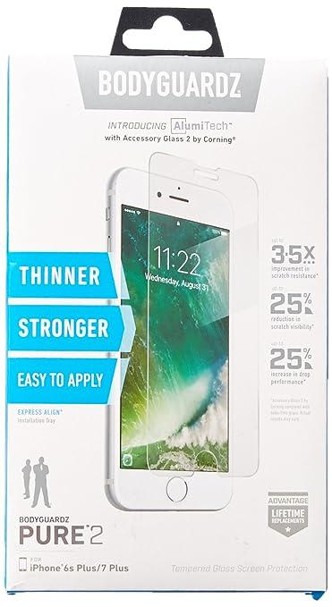 Amazon.com: BodyGuardz - Pure Glass Screen Protector, Ultra-thin ...
