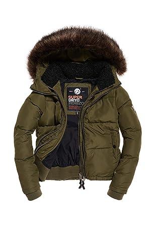 detailed look ebafa 2f437 Superdry Jacke Damen Horizon Padded JKT Khaki: Amazon.de ...