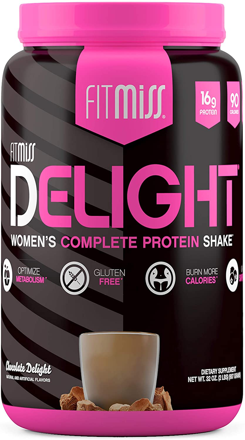 FitMiss Delight Protein Powder, Nutritional Shake, Chocolate Delight, 2 Pounds, 38 Servings: Health & Personal Care