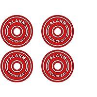 4 Pegatinas Premium con Alarma, Sistema de Alarma