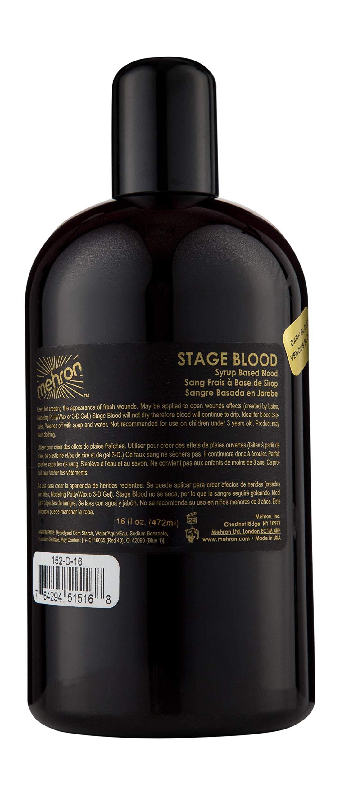 Mehron Makeup Stage Blood (16 oz) (Dark Venous)